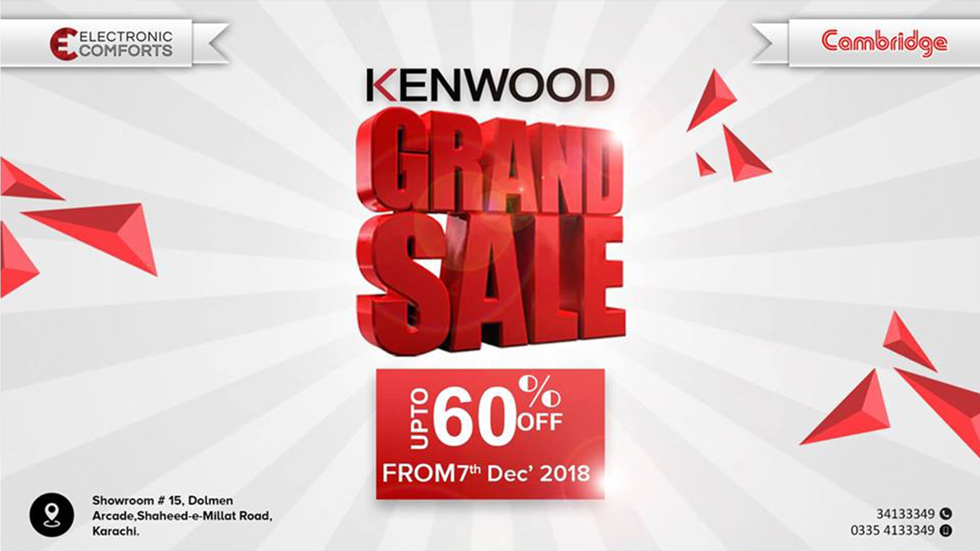 Grand Sale – upto 60% OFF on Electronics & Home Appliances